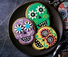 Candy skull iced biscuits | ASDA Recipes