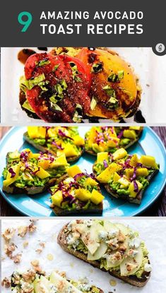9 Avocado Toast Recipes You Haven't Tried #healthy #recipes #avocado