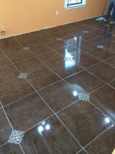 Tile floor finish