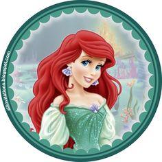 Platilla boton princesa ariel la sirenita