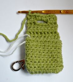 Nicely Created For You: FREE CROCHET PATTERN - Small Square Coin Purse with key ring and clasp