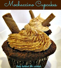 The PERFECT blend of coffee and chocolate! A sophisticated cupcake for an adult birthday party!