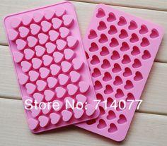 55 coração em forma de molde de Silicone molde para fazer o molde do doce de chocolate açúcar mascavo e mold ice D038 em   de   no AliExpress.com | Alibaba Group