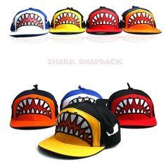 Unisex snapback Shark baseball cap funny unique k pop style snapback hat #Teamlife #BaseballCap