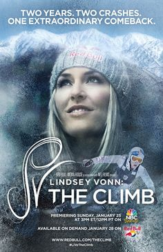 """""""Lindsey Vonn: The Climb"""" features never-before-seen video of Vonn's Nov. 20 crash and operating-room footage as renowned orthopedic surgeon Dr. James Andrews repaired her knee."""