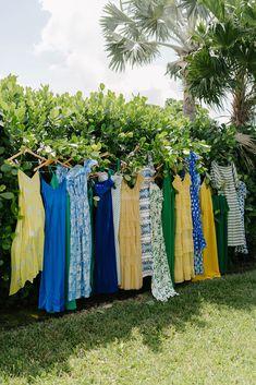 La Dolce Vita Meets Old-School Beach Style at This Wedding in Key Largo - Vogue Wedding Weekend, Our Wedding, Dream Wedding, Wedding Yellow, Fall Wedding, Wedding Stuff, Amanda Jones, Party Frocks, Vintage Fairies