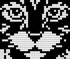 Cat face x-stitch Motifs Perler, Perler Patterns, Pixel Crochet, Crochet Chart, Pixel Pattern, Cat Pattern, Pony Bead Patterns, Beading Patterns, Knitting Charts