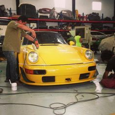 Finishing touches. - July 2, 2013 #carpornracing #rwb #rauhweltbegriff #rwbmanila