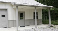 This garage was built for Ed of Marysville, OH  Special Features:    Morton's Hi-Rib Steel  Cupola  Porch  Wainscot  Morton's Energy Performer Insulat...