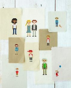 cross stitch family portraits