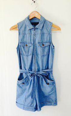 Rag & Bone Light Denim Romper | VAUNTE