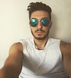 Selfie, boy, tattoo, sunglasses