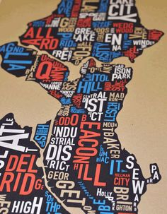 I love these typographic maps. Luckily I have a map of Hamburg in my room