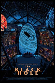 The Black Hole | 25 Beautifully Reimagined Disney Posters That Capture The Magic Of The Films