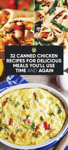 32 Canned Chicken Recipes for Delicious Meals You'll Use Time and Again – cooking recipes Egg Recipes, Dinner Recipes, Cooking Recipes, Healthy Recipes, Dinner Ideas, Brunch Ideas, Meal Ideas, Chicken Recipes For Two, Health