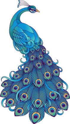 Passaro pinturas en 2019 Peacock art Colorful drawings y Bird art Peacock Drawing, Peacock Tattoo, Peacock Painting, Peacock Art, Fabric Painting, Tattoo Bird, Tattoo Animal, Peacock Colors, Peacock Design