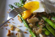 Midnight Asparagus with Creamy Eggs