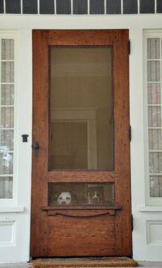 This door has a story... (And pups as props)...screen door