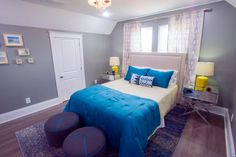 Looking for Contemporary Bedroom ideas? Browse Contemporary Bedroom images for decor, layout, furniture, and storage inspiration from HGTV. Good Bones Mina, Good Bones Hgtv, Living On The Edge, Comfort Zone, Contemporary, Master Bedrooms, Furniture, Home Decor, Ideas