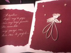 Christmas card with calligraphy and quilling angel