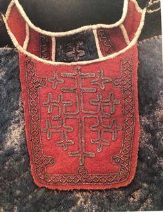 Samiskt barmkläde från Lule lappmark G. von Düben samling 1873