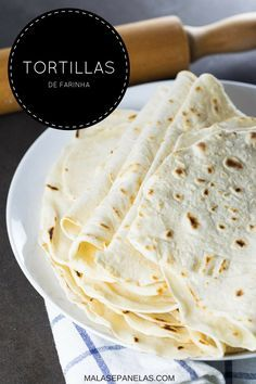 Tortillas de Farinha | Malas e Panelas Vegetarian Side Dishes, Vegetarian Recipes, Cooking Recipes, Polenta, Bruschetta, Confort Food, Good Food, Yummy Food, Easy Healthy Recipes