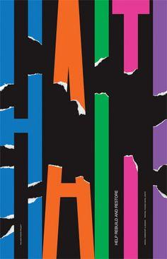 """Abandonan la rigidez y la seriaedad racionalista. Tambien aplican el pragmatismo y el sentido del humor típico norteamericano  Haiti Poster Project by Chermayeff & Geismar  """"Help Rebuild and Restore"""": Created for a poster auction to benefit the efforts of Doctors Without Borders in Haiti."""