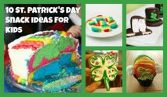 St. Patrick's Day Snacks for Kids- healthy ideas and sweet rainbow treats!