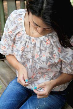 Sweet as Honey Blouse | Bonnie Christine for Art Gallery Fabrics