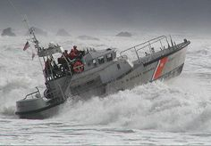The Coast Guard.  Heading out on a rescue mission after a distress call was received.