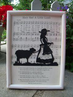 Mary Had a Little Lamb Nursery Art.