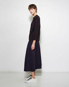 Sofie d'Hoore | Stencil Button Down Skirt | La Garçonne