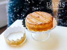 Galette des Rois 'Chevrons'  French Epiphany by ParisMiniatures, $35.00