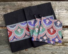 Gypsy Kitchen Set 2 Pot Holders 2 Hand Towels by marylandquilter
