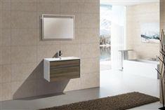 Fitto 32'' Havana Oak Wall Mount Modern Bathroom Vanity