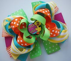 hairbow maybe Easter or just color combo for spring