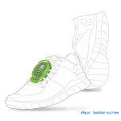 Lace Shoes 3D Pedometers