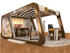 Majid Al Fottaim - Employment fair booth - on Behance Kiosk Design, Cafe Design, House Design, Container Design, Bus Stop Design, Exibition Design, Exhibition Stall Design, Exhibition Stands, Magazin Design