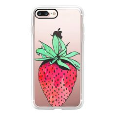 Cute Red & Green Watercolor Painted Hand Drawn Fruity Summer... ($50) ❤ liked on Polyvore featuring accessories, tech accessories, iphone case, red iphone case, iphone cover case, green iphone case, iphone cases and apple iphone case