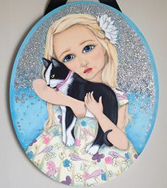 """Mia and Poppy 16 x 20"""" Acrylic on Canvas Private commission"""