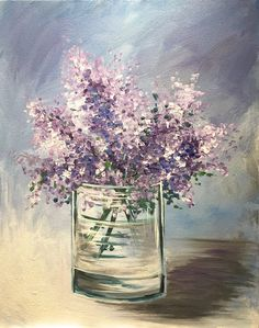 Find a wine and painting event at Pinot's Palette in Naperville for a unique, fun night out or private event venue! Book your painting class today! Watercolor Flowers, Watercolor Art, Lilac Painting, Painting Flowers, Paint And Drink, Cool Paintings, Paint Party, Local Artists, Girls Night Out