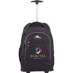 Promotional Products Ideas That Work: High Sierra� Chaser Wheeled Compu-Backpack . Get yours at www.luscangroup.com