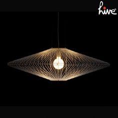 Halo hanging disc lamp