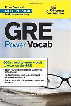 THE PRINCETON REVIEW GETS RESULTS! Ace the GRE verbal sections with 800+ words you need to know to excel.Improving your vocabulary is one of the most important steps you can take to enhance your GRE v