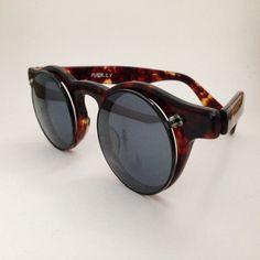 micky japan frame tortoise circular plastic frame sunglasses