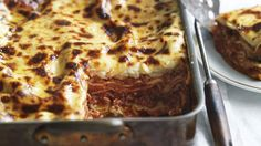 Neil Perry's buffalo mozzarella lasagne - so delicious. One of the best Lasagne recipes ever. Can substitute normal mozzarella and ricotta for some of the buffalo Mozzarella - it gets pricey Lasagne Dish, Lasagne Recipes, Savoury Recipes, Pasta Recipes, Yummy Recipes, Pasta Meals, Noodle Recipes, Meat Recipes, Good Food
