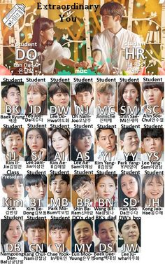 Here is our character chart forExtraordinary Youwhich is what we use to remember who each person is, what their initials are, and what their characters… The post Character Chart: Extraordinary You appeared first on Drama Milk. Korean Drama Funny, Korean Drama Movies, Korean Actors, Korean Words, Drama Memes, Cute Korean Girl, Fan Picture, Thai Drama, Korean Language