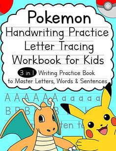 Read Book Pokemon Handwriting Practice Letter Tracing Workbook for Kids: Writing Practice Book to Master Letters, Words & Sentences Author Alex Smith Vigan, Pokemon Letters, Books To Read, My Books, Word Sentences, Tracing Letters, Delphine, Cool Books