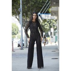 Guipure lace jumpsuit found on Polyvore
