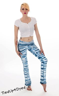 Hey, I found this really awesome Etsy listing at https://www.etsy.com/listing/190974395/shades-of-indigo-tie-dye-yoga-pants